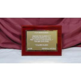 Commemorative Plaque 19cm x 14,5cm