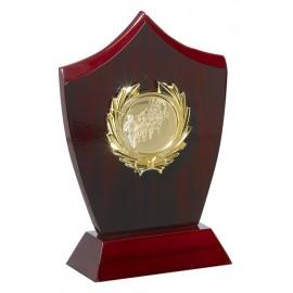 Trofeo de Madera con aplique